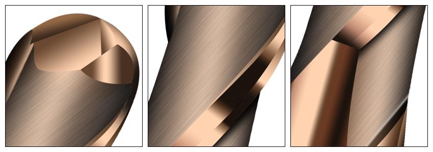 HRC55古铜色球刀细节