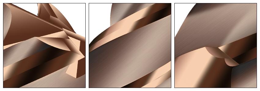 古铜色铣刀细节