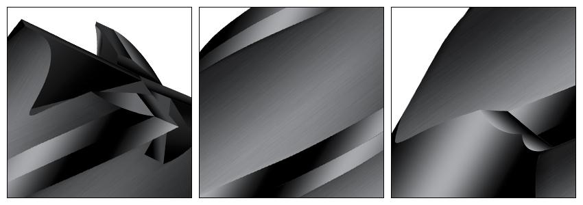 黑色铣刀细节