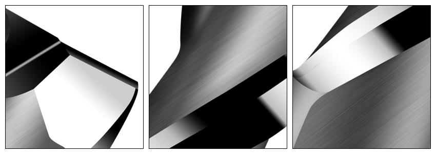 2刃黑色铣刀细节