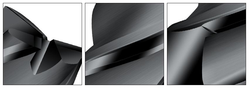 3刃黑色铣刀细节