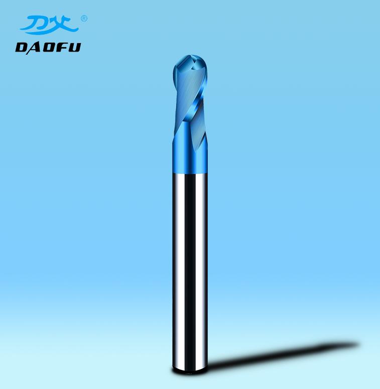 HRC65°蓝色球刀