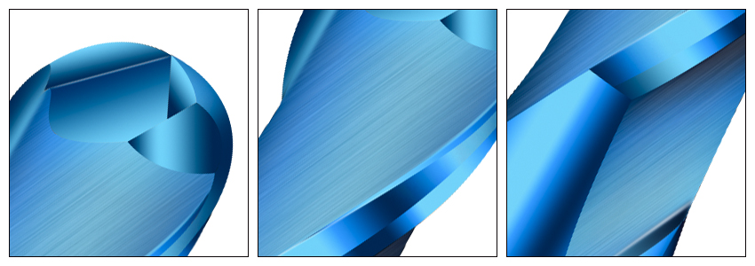蓝色球刀细节