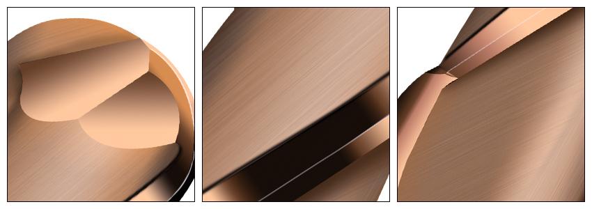 加长古铜色球刀细节