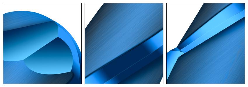 加长蓝色球刀细节